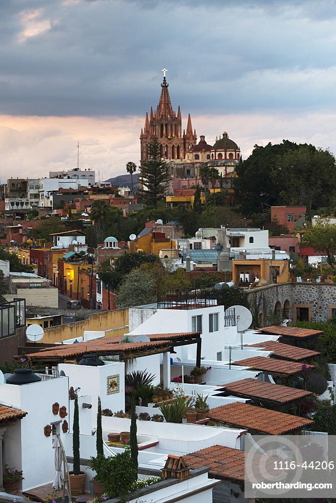 Cityscape With Parish Church, San Miguel De Allende, Guanajuato, Mexico