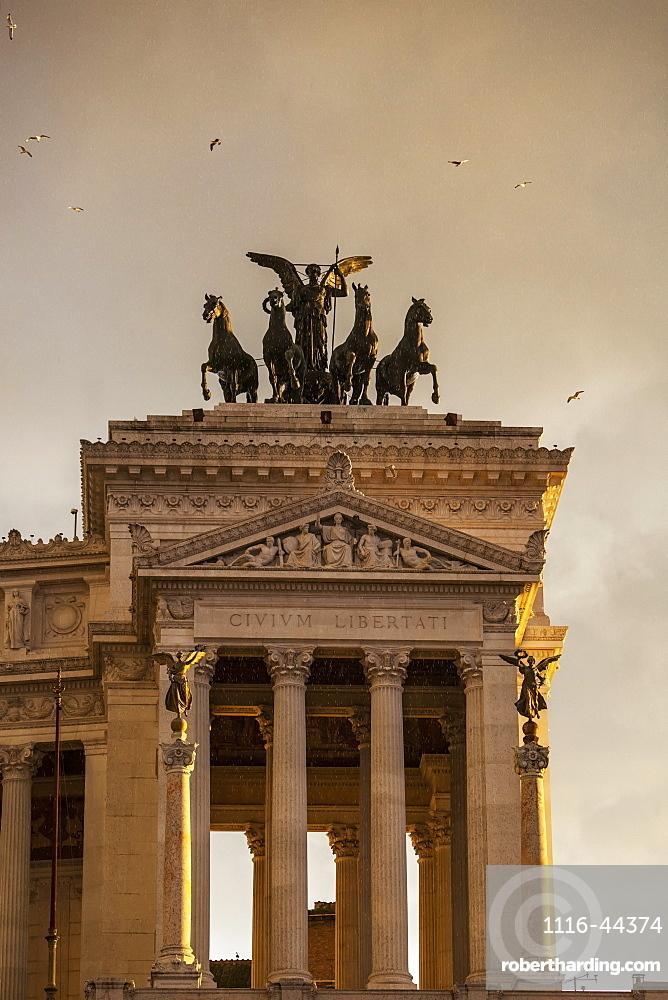 Goddess Victoria Riding On Quadriga, Rome, Italy