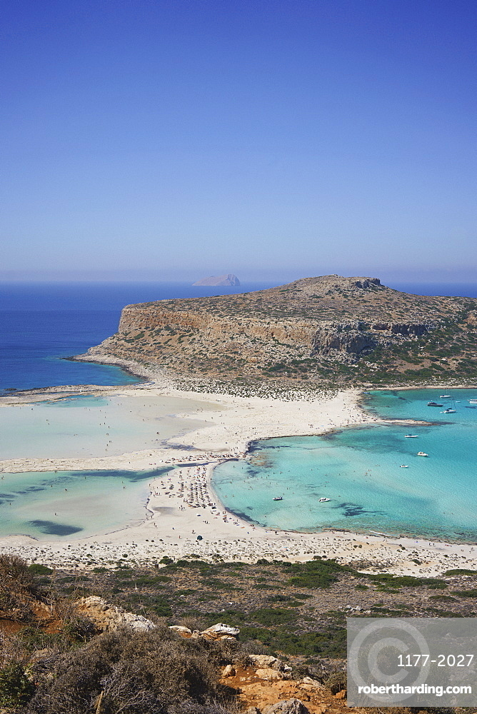 Scenic view of Balos Beach, Crete, Greece