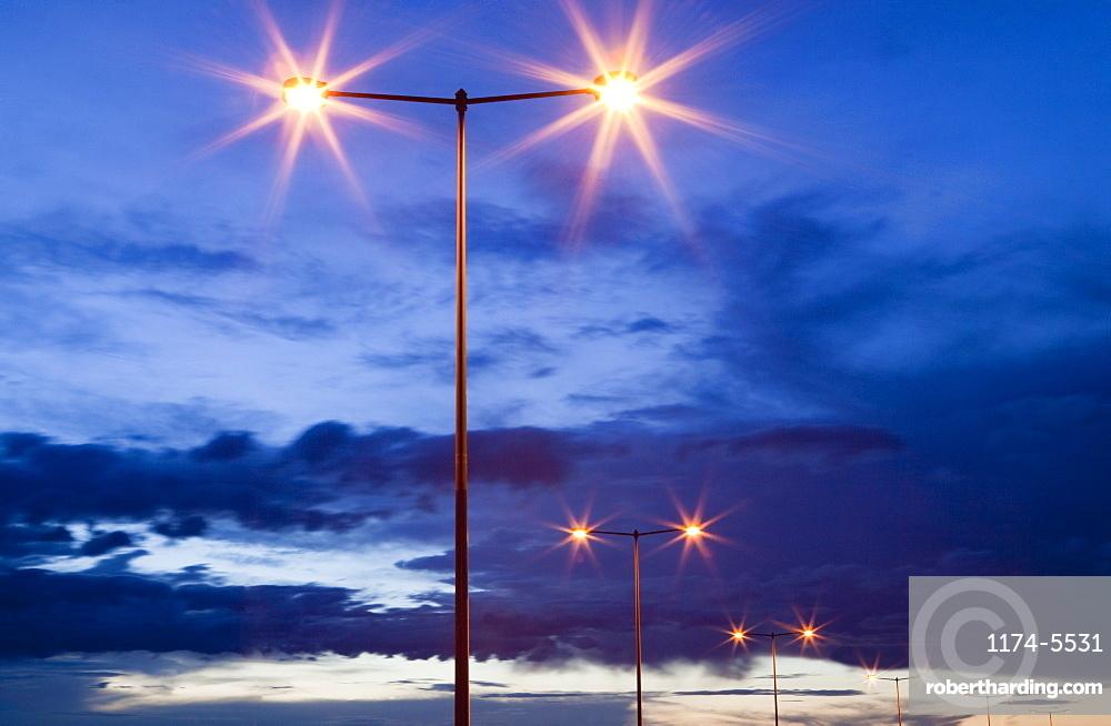Street Lights at Dusk, Denver, Colorado, United States of America