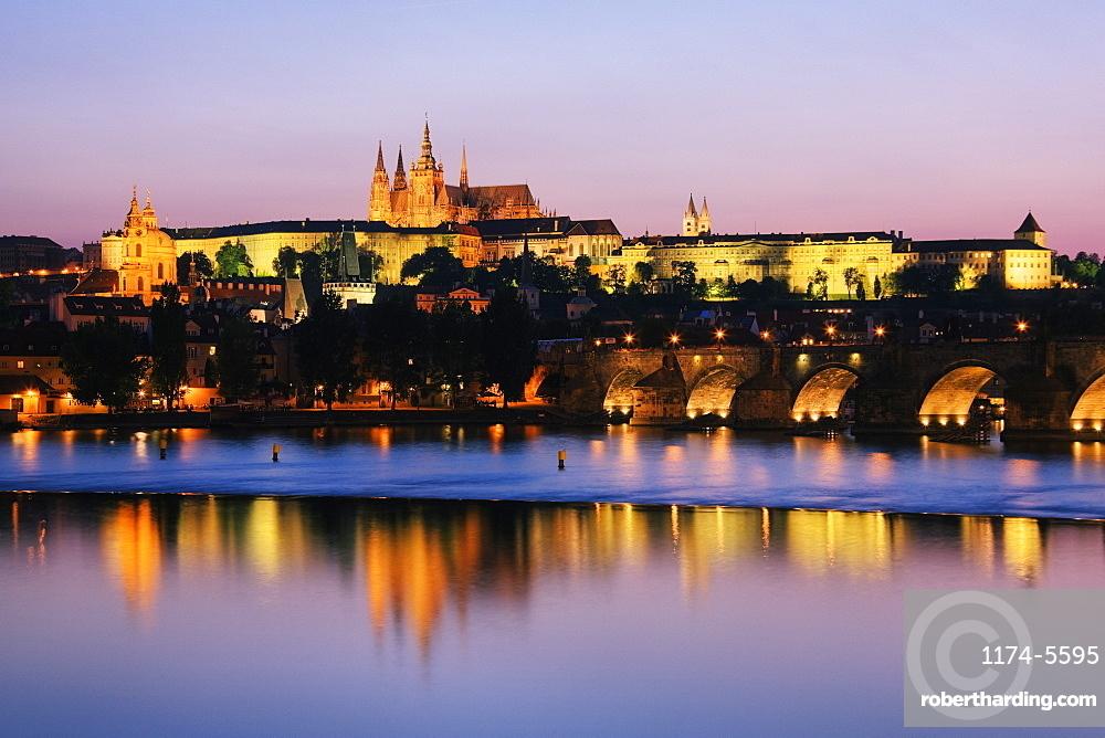 Prague Castle on the Riverbank, Prague, Czech Republic