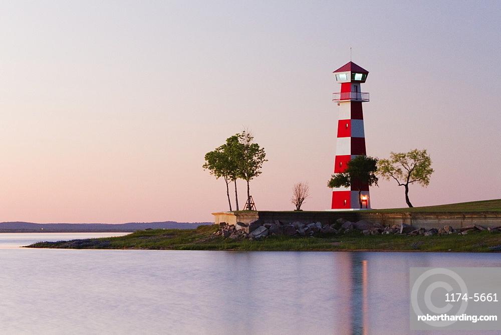 Lighthouse on a Beach, Texas, USA