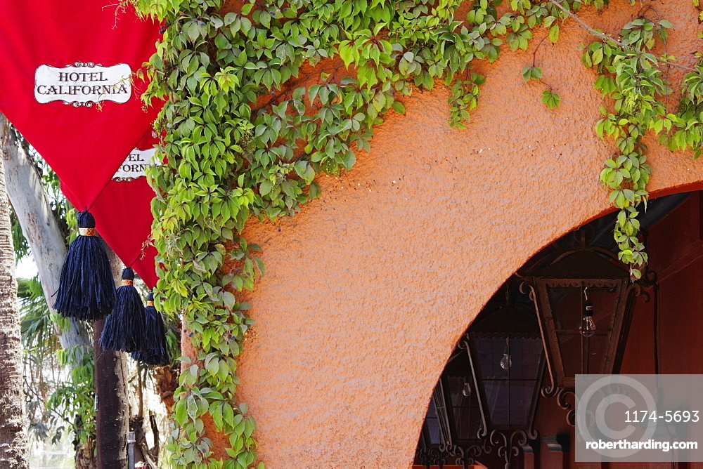 Cropped Exterior of the Hotel California, Todos Santos, Baja California, Mexico