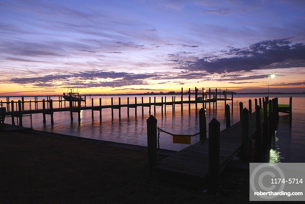 Dock at Dawn, Palmetto, Florida, USA