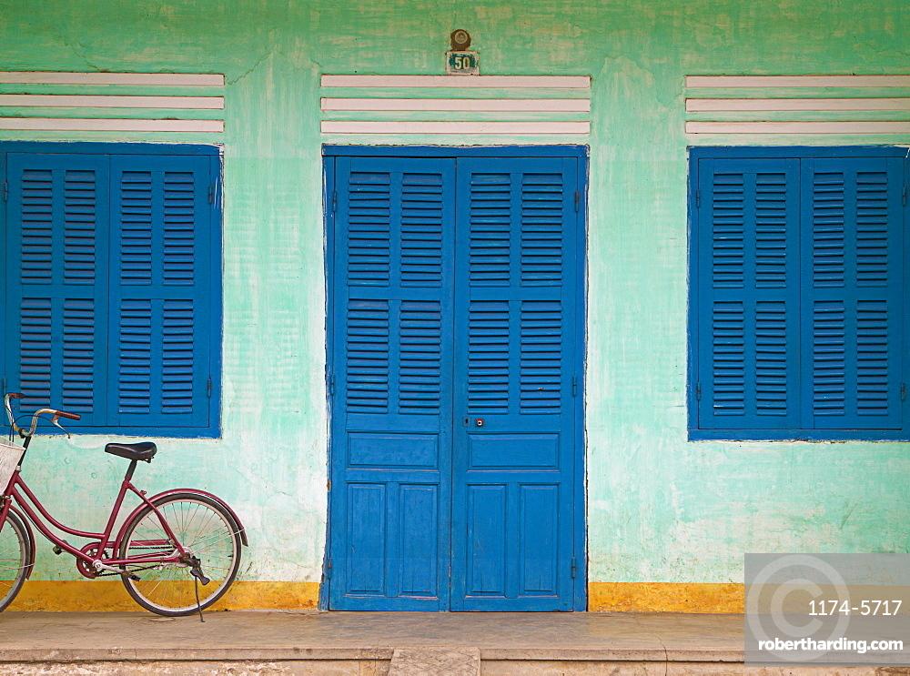Bike Parked on a Front Porch, Hoi An, Vietnam