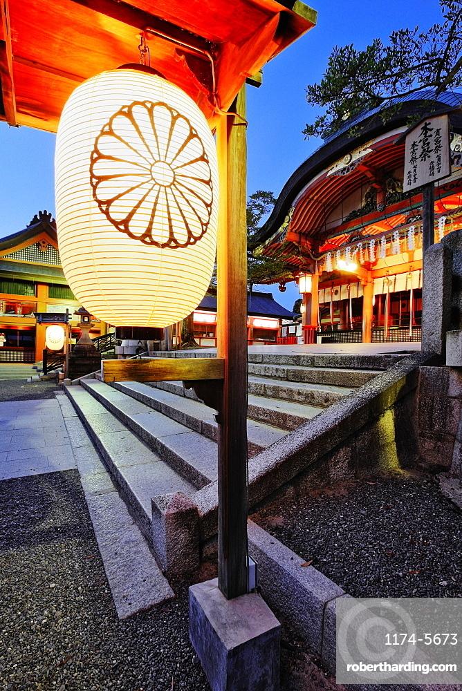 Dusk Scene at Inari Shrine, Kyoto, Japan
