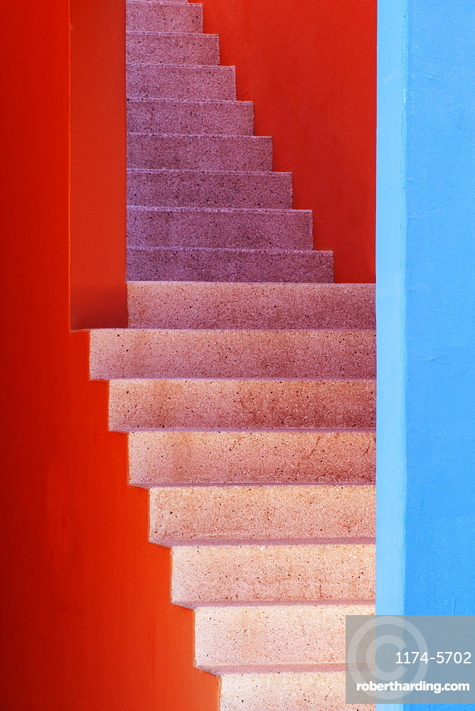 Colorful Stairwell, San Jose Los Cabos, Baja California, Mexico