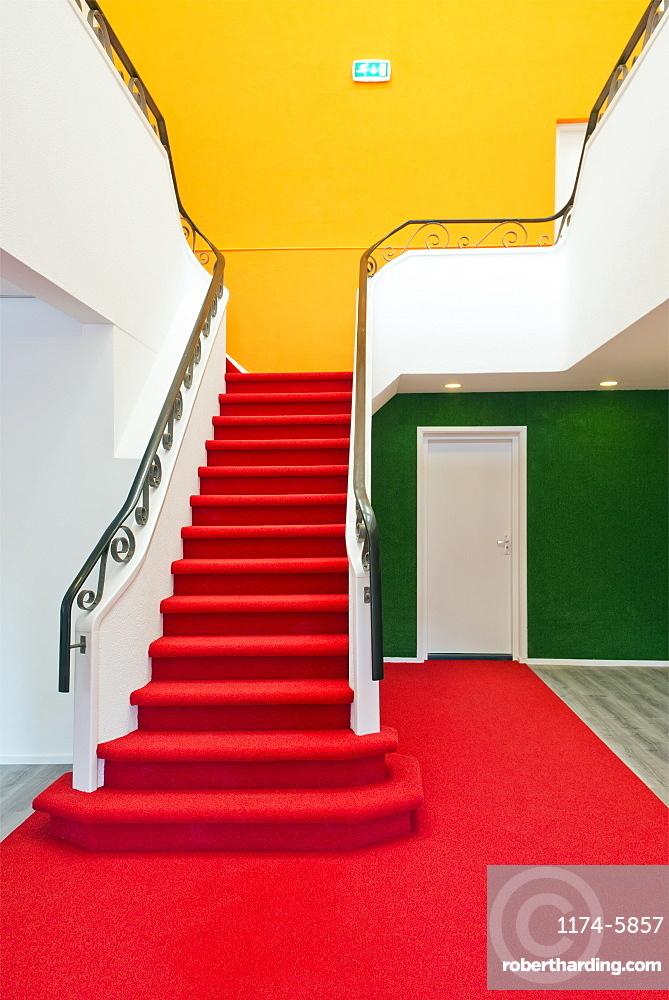 Colorful staircase, Rijswijk, Netherlands, Netherlands