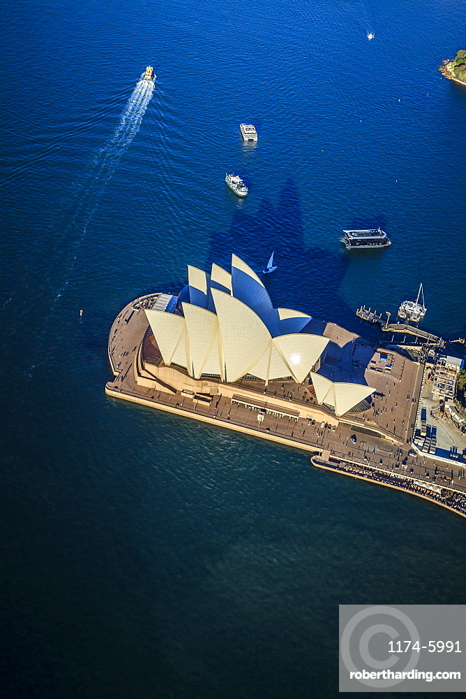 Aerial view of Sydney cityscape, Sydney, New South Wales, Australia