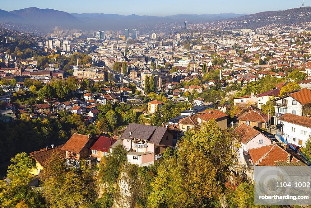 Bosnia and Herzegovina, Sarajevo, View of Sarajevo City