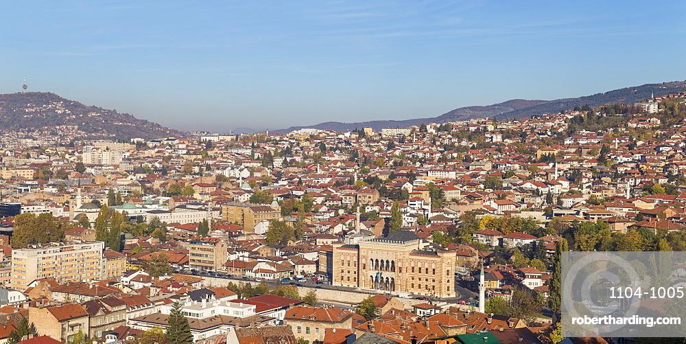 View of Sarajevo City, Sarajevo, Bosnia and Herzegovina, Europe