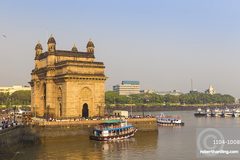 View of Gateway of India, Mumbai, Maharashtra, India, Asia