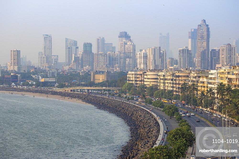 View of Marine Drive, Mumbai, | Stock Photo