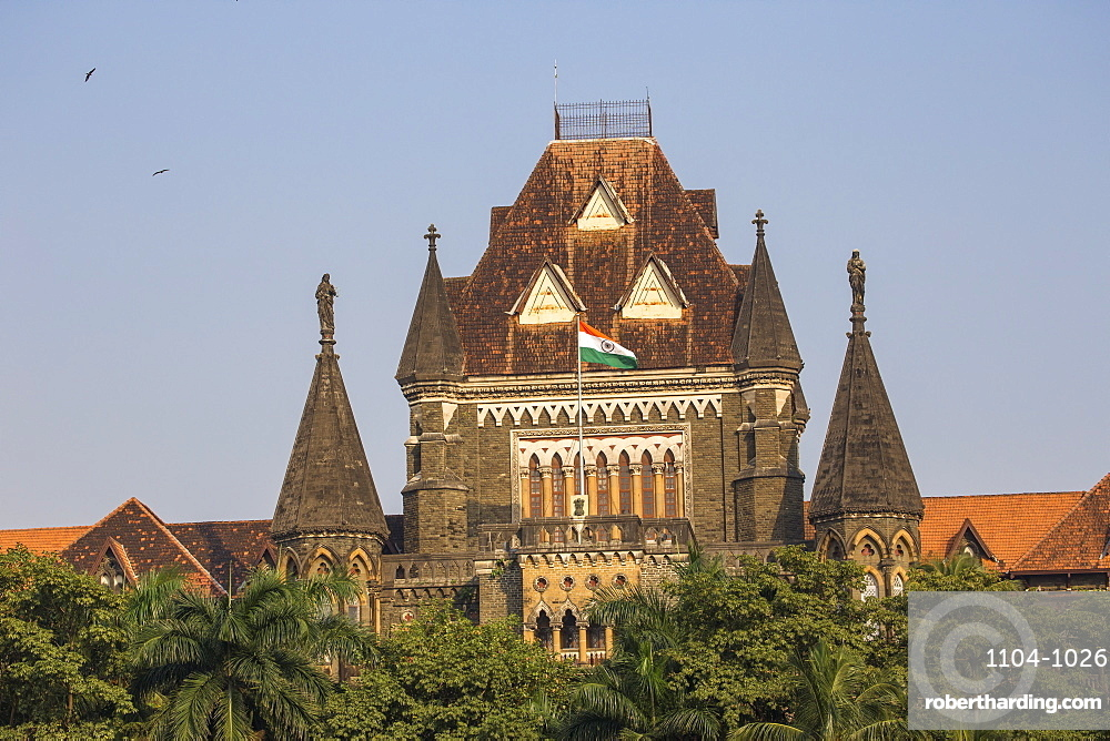 Oval Maidan and Bombay High Court, Fort Area, Mumbai, Maharashtra, India, Asia