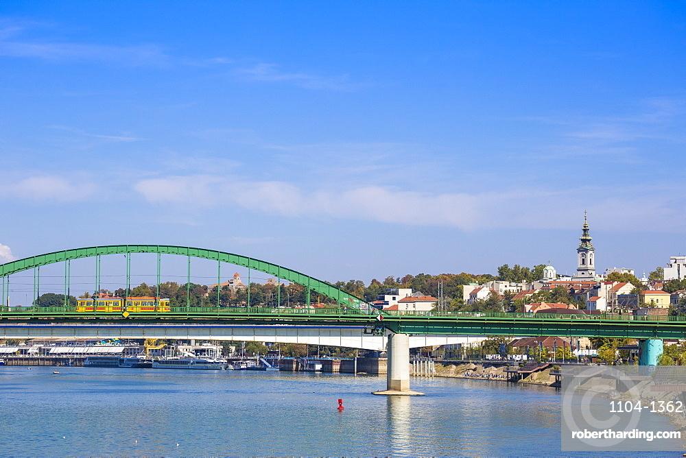 Stari Savski Most (Old Sava Bridge) over Sava River, Belgrade, Serbia, Europe