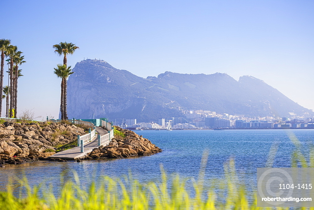 View of Rock of Gibraltar, Gibraltar, Europe