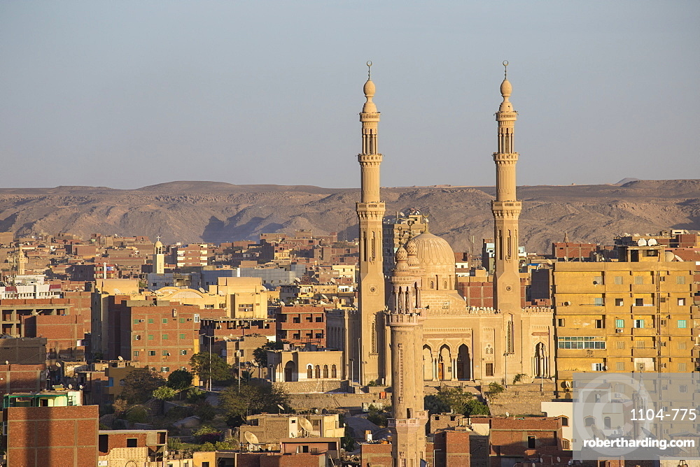 View of Aswan skyline, Aswan, Upper Egypt, Egypt, North Africa, Africa