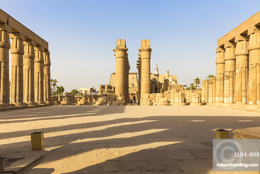 The Great Colonnade of Amenophis II, Luxor Temple, UNESCO World Heritage Site, Luxor, Egypt, North Africa, Africa