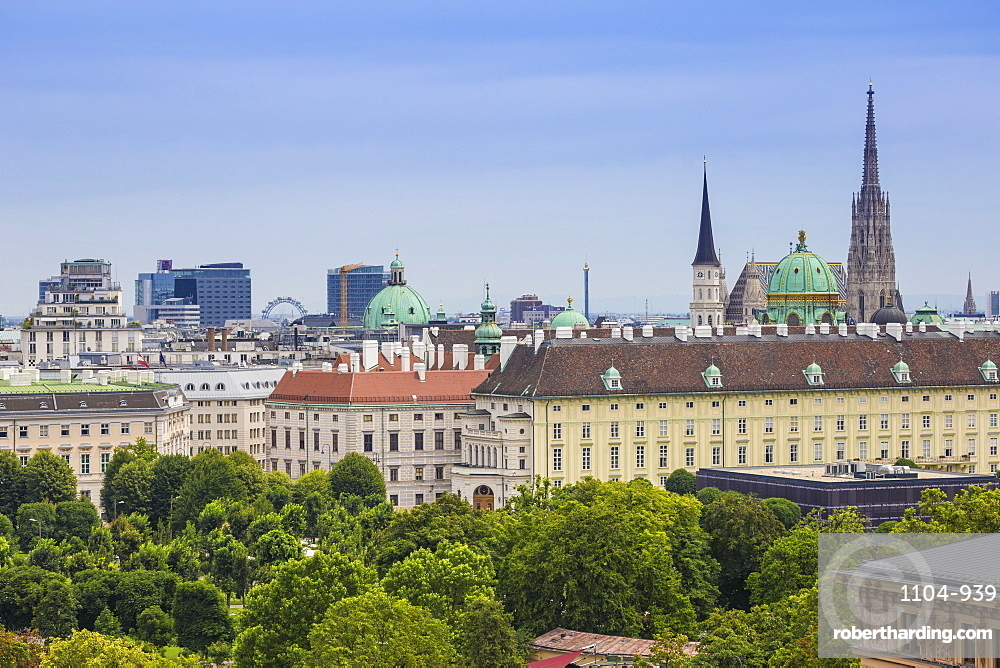 View of city, Vienna, Austria, Europe