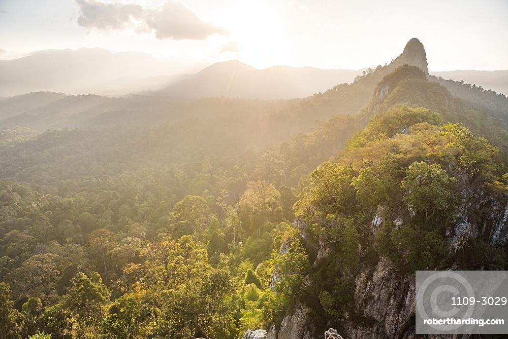 Bukit Tabur Mountain at sunrise, Kuala Lumpur, Malaysia, Southeast Asia, Asia