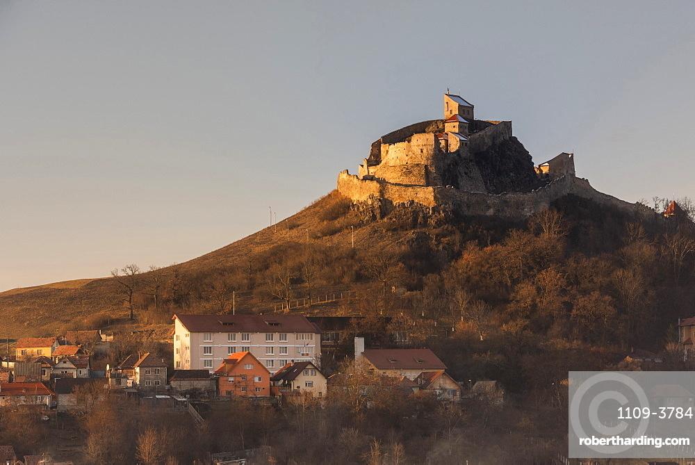 Hill top church near Viscri, UNESCO World Heritage Site, Transylvania, Romania