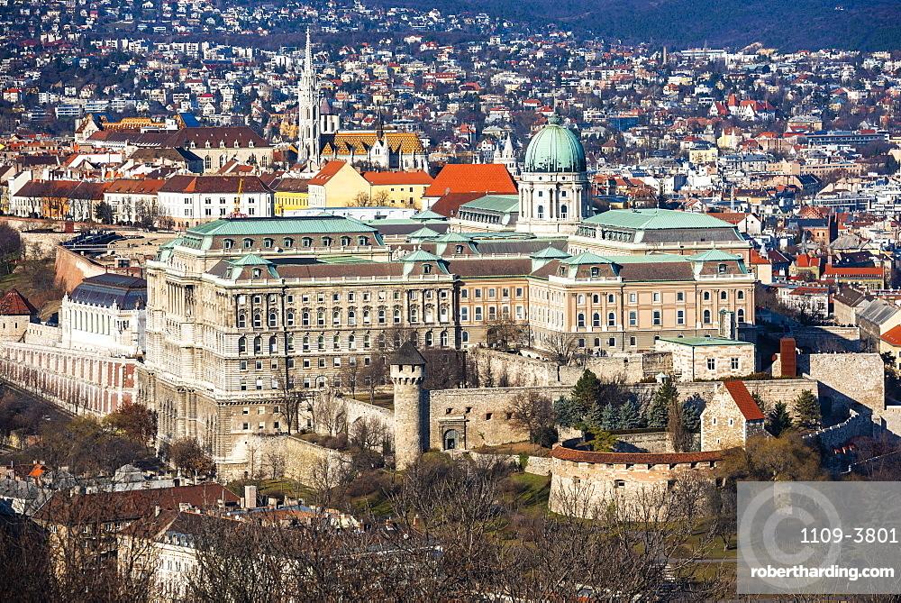 View from Gellert Hill, Budapest, Hungary, Europe