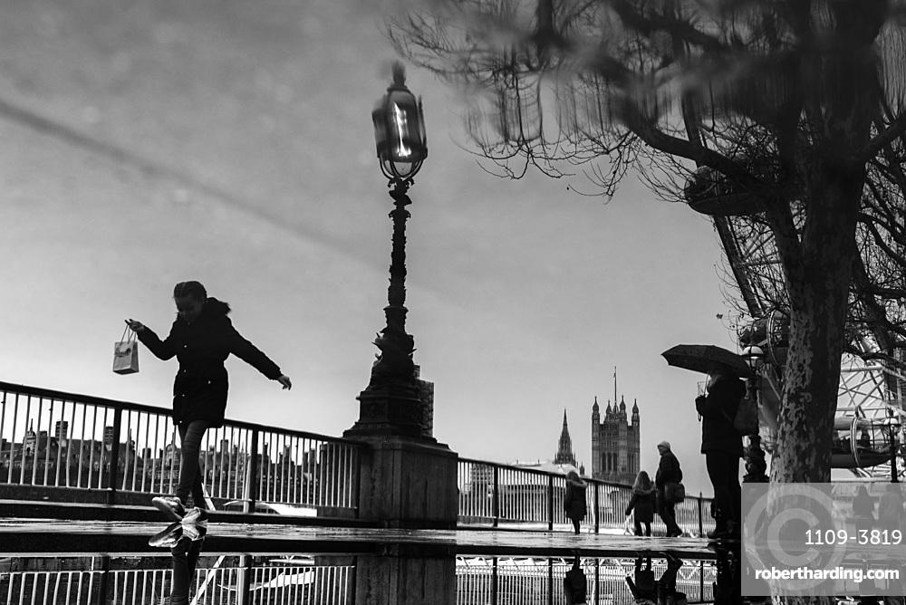 South Bank street scene, Southwark, London, England, United Kingdom, Europe