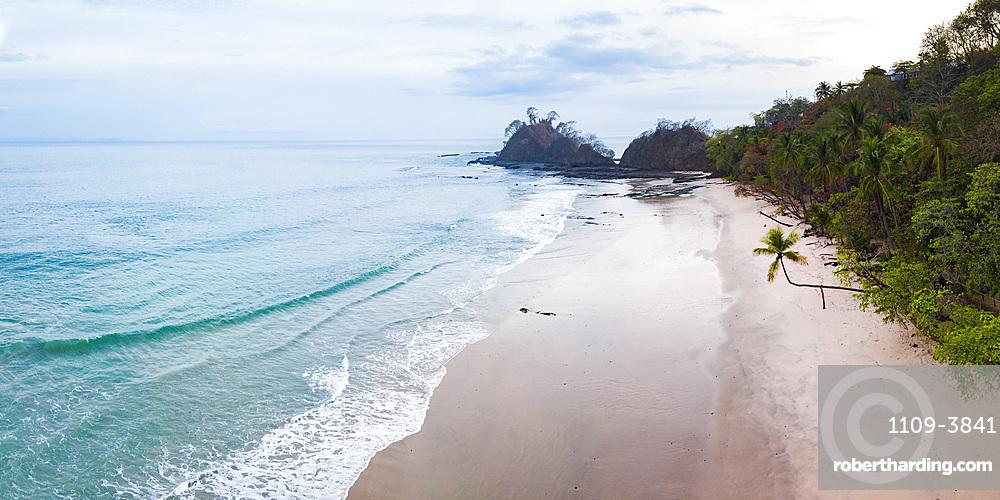 Drone view of Punta Leona Beach, Puntarenas Province, Pacific Coast of Costa Rica, Central America