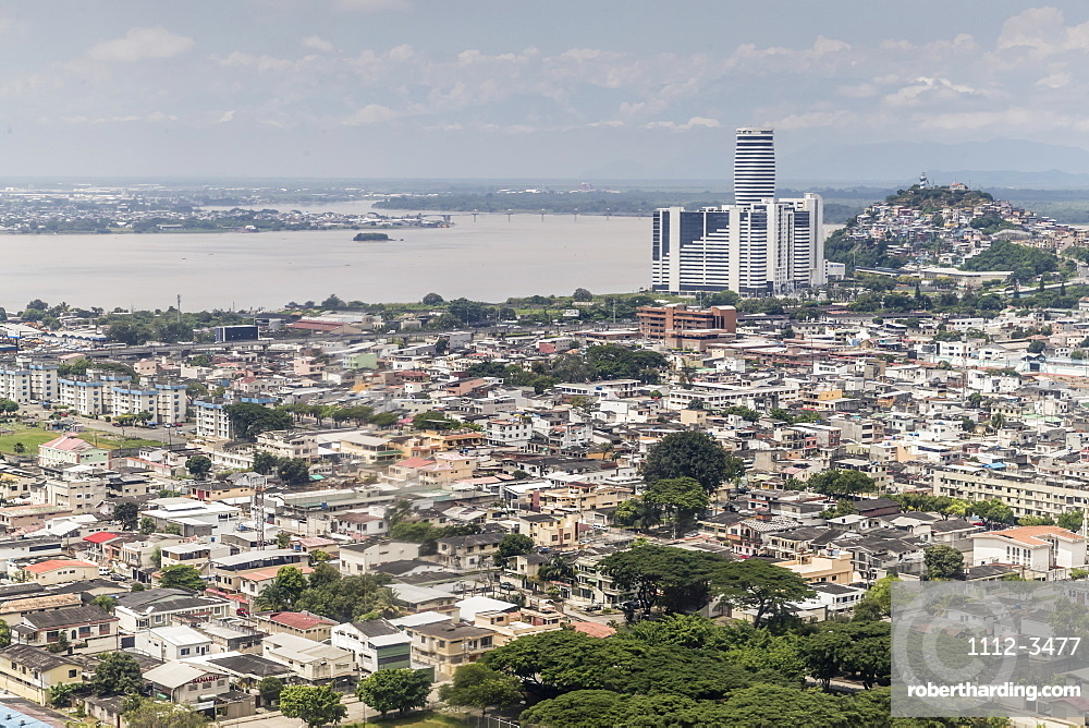 Aerial view of the city of Guayaquil, Ecuador, South America