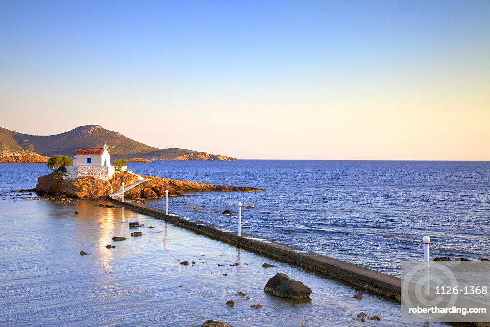 White Chapel at Agios Isidoros, Leros, Dodecanese, Greek Islands, Greece, Europe