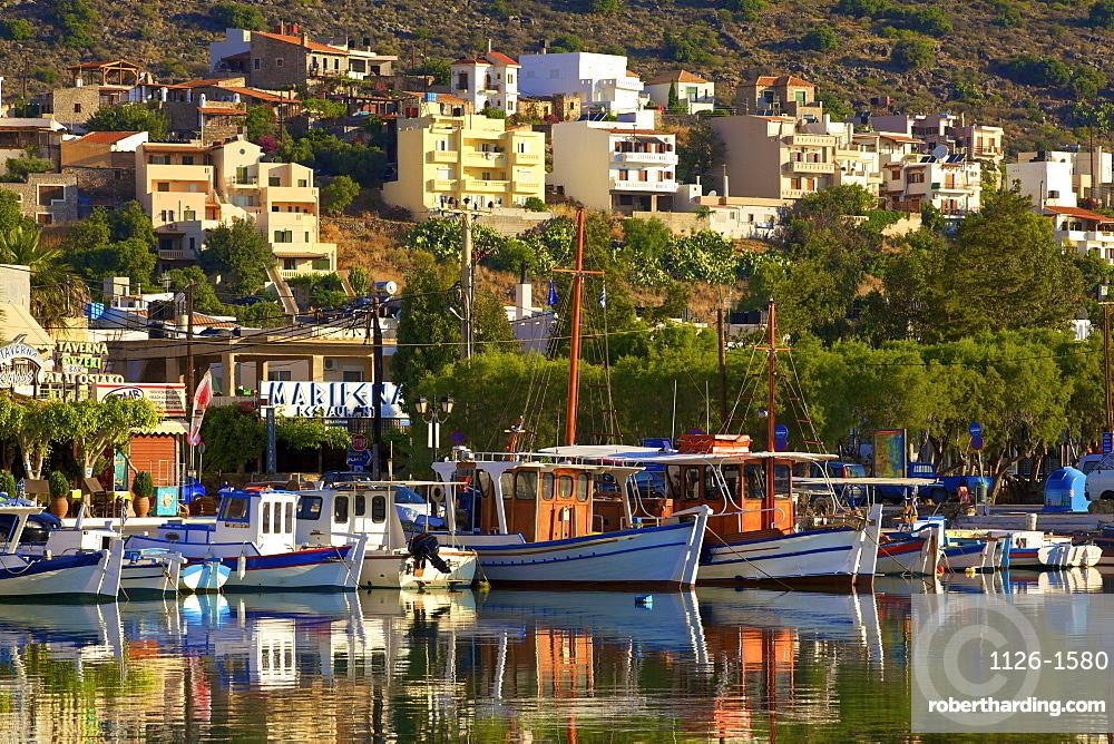 Elounda Harbour, Elounda, Crete, Greek Islands, Greece, Europe