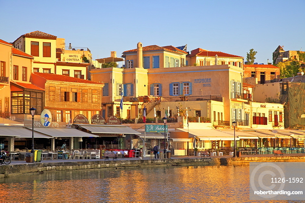 The Venetian Harbour, Chania, Crete, Greek Islands, Greece, Europe