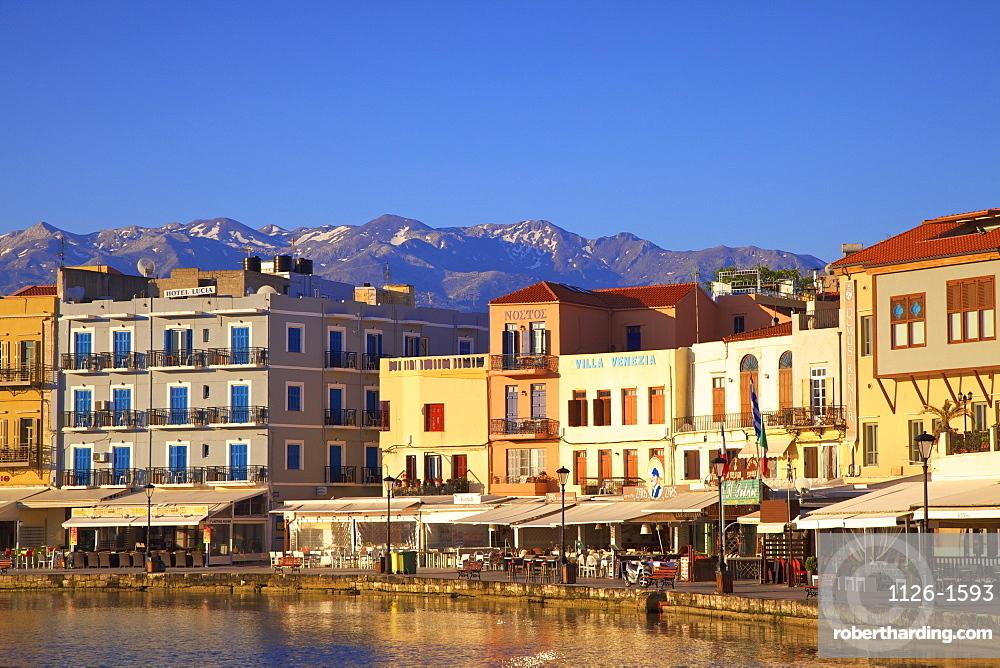 Venetian Harbour, Chania, Crete, Greek Islands, Greece, Europe