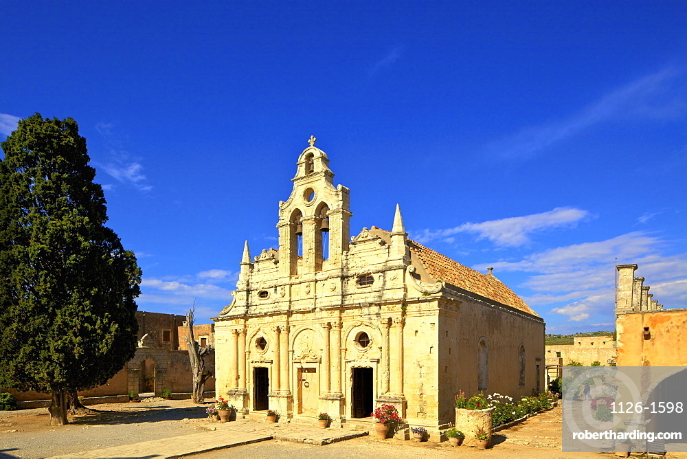 Arkadi Monastery, Crete, Rethymno, Greek Islands, Greece, Europe