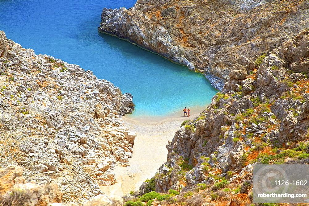 Seitan Limania Beach, Akrotiri, Crete, Greek Islands, Greece, Europe