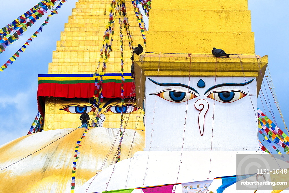 Boudhanath Stupa, Largest Asian Stupa, Unesco World Heritage Site, Kathmandu, Nepal, Asia