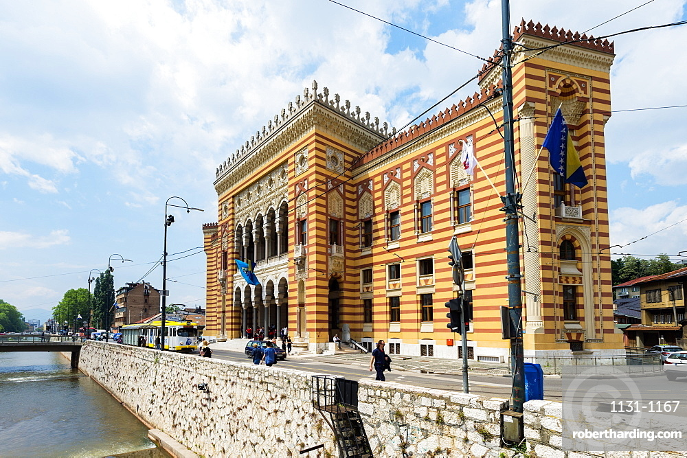 City hall in old town of Sarajevo, Bosnia and Hercegovina, Europe