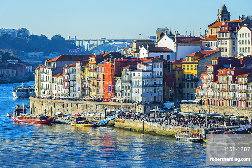 Douro River and Ribeira district, UNESCO World Heritage Site, Porto, Portugal, Europe