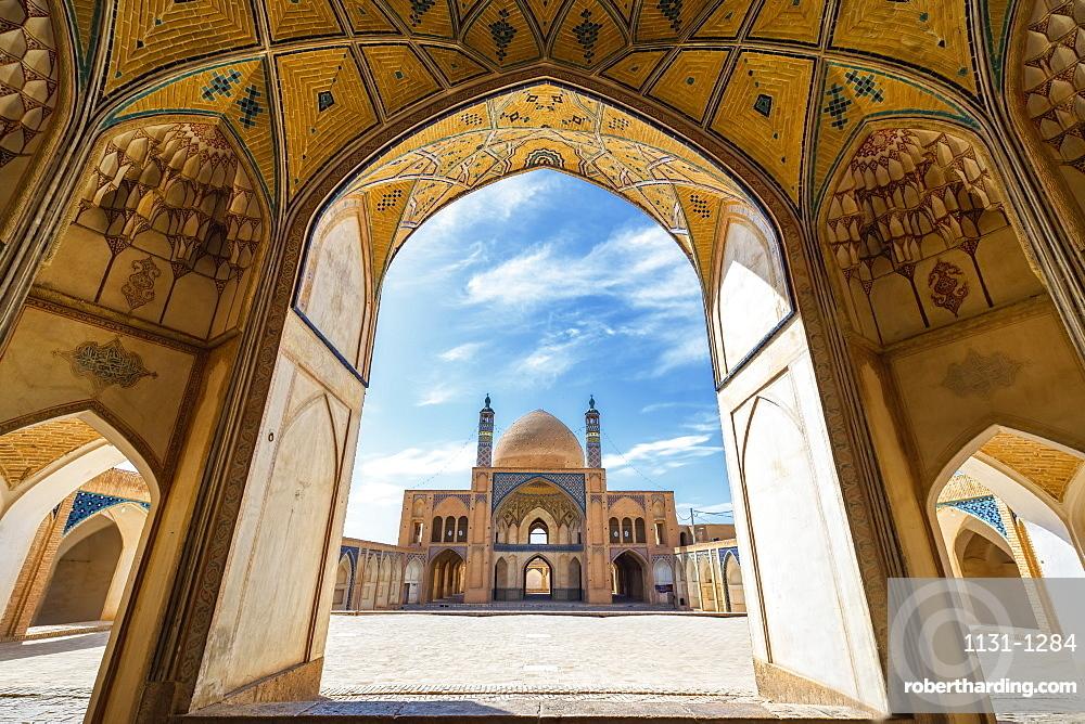Agha Bozorg Mosque, Inner Courtyard, Kashan, Isfahan Province, Islamic Republic of Iran