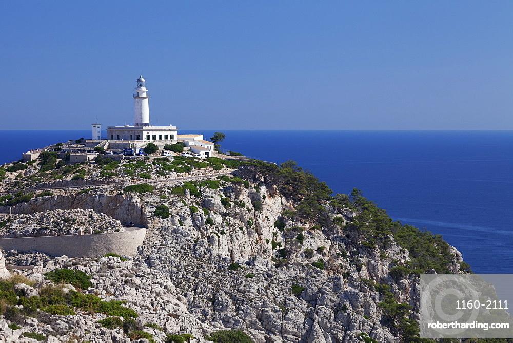 Lighthouse At Cap De Formentor Stock Photo