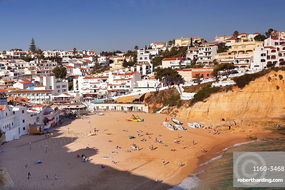 Praia da Carvoeiro beach, Carvoeiro, Algarve, Portugal, Europe