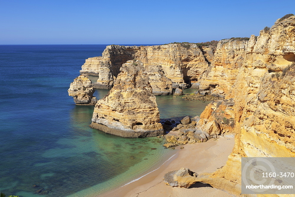 Praia da Marinha beach, rocky coast, Lagoa, Algarve, Portugal, Europe