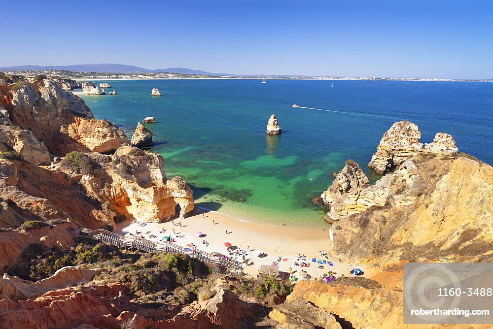 Praia do Camilio beach, Atlantic ocean, near Lagos, Algarve, Portugal, Europe