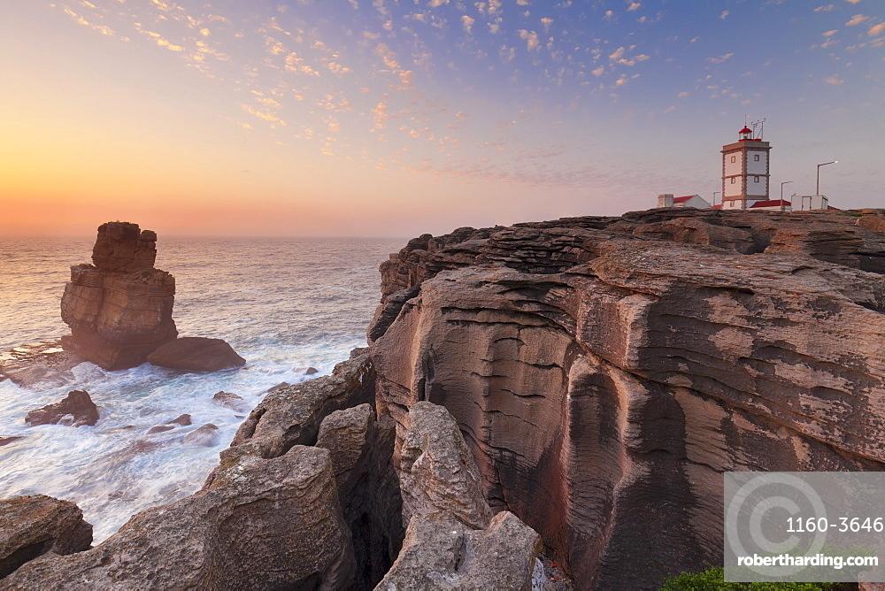 Cabo Carvoeiro lighthouse, Costa da Prata, Silver Coast, Peniche, Atlantikc Ocean, Portugal