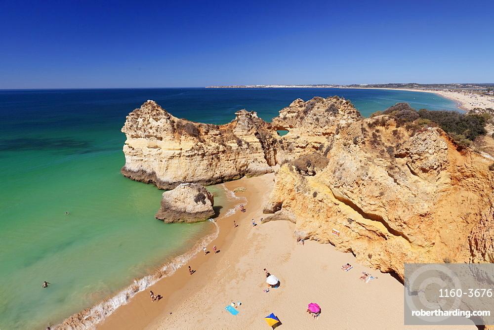 Praia de tres Irmaos beach, Atlantic Ocean, Alvor, Algarve, Portugal, Europe