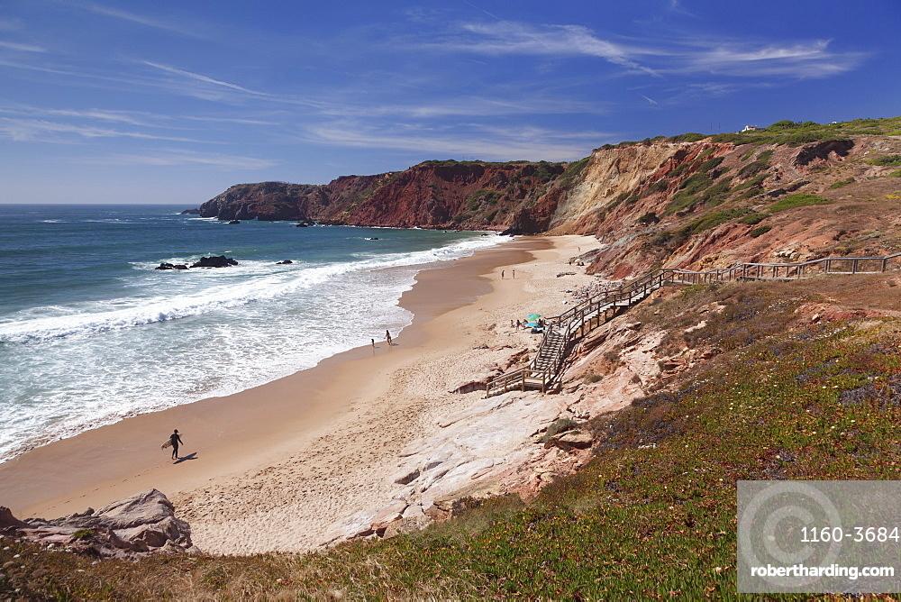 Praia do Amado Beach, Atlantic Ocean, Carrapateira, Costa Vicentina, Algarve, Portugal