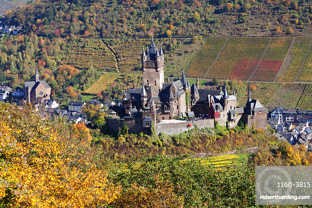 Reichsburg Castle, Cochem, Moselle Valley, Rhineland-Palatinate, Germany, Europe