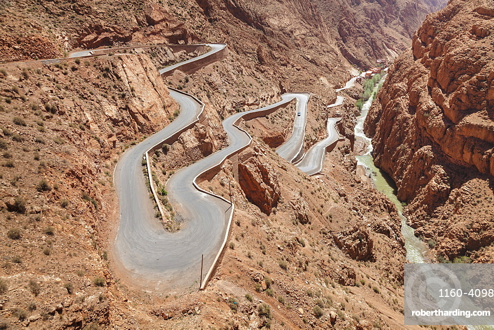 Road, Dades Gorge, Atlas Mountains, Southern Morocco, Morocco, North Africa, Africa