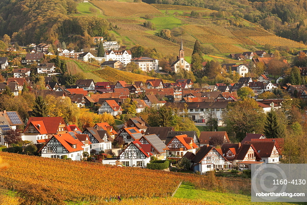 Half-timbered houses, Sasbachwalden, Black Forest, Baden-Wurttemberg, Germany, Europe