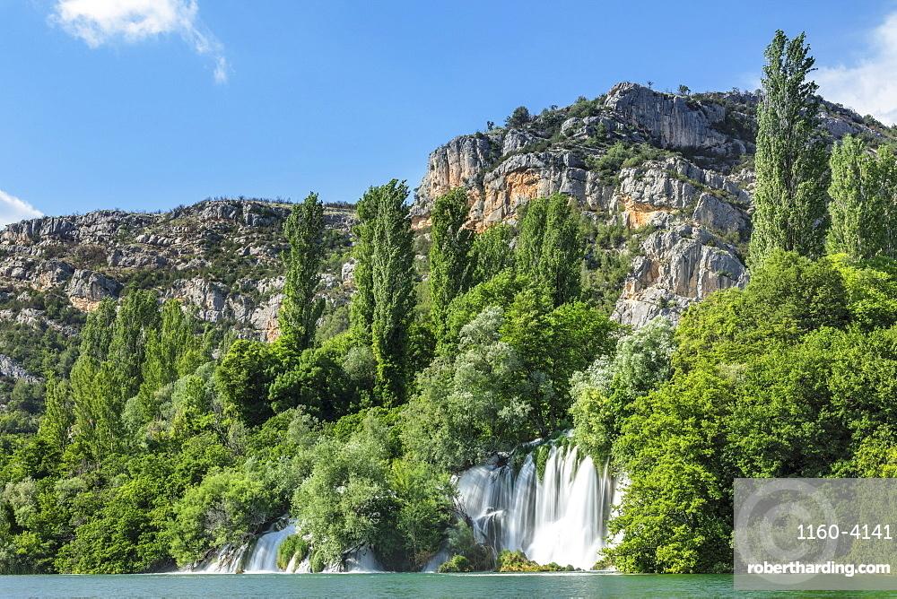 Roski Slap Waterfall, Krka National Park, Dalmatia, Croatia, Europe